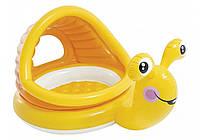 """Intex 57124, надувной детский бассейн с навесом """"Ленивая улитка"""""""