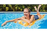 Intex 59712-orange, надувной матрас для плавания. Оранжевый, фото 1