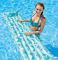 Intex 59712-blue, надувной матрас для плавания. Голубой, фото 1