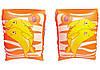 Bestway 32042-orange, надувные нарукавники для плавания Оранжевые дельфины