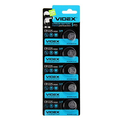 Батарейка Videx CR1225 3V Цена за блистер (5шт) DL1225