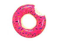 SYNERGY 25545-pink-donut, надувной круг Пончик розовый, 70 см, фото 1