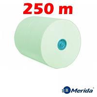 Полотенца бумажные Merida Economy Automatic зелёные однослойные в рулонах Maxi 250 м., Польша