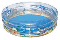 """Bestway 51045, надувной детский бассейн """"Морская жизнь"""""""