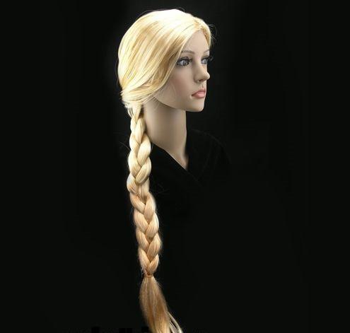 Парик Снегурочки коса блонд, 80см.