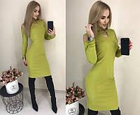 """Стильне плаття міні """"Оливка"""" Angelo Style"""