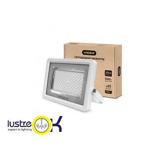 Прожектор LED 100W 5000K 220V белый корпус VIDEX PREMIUM