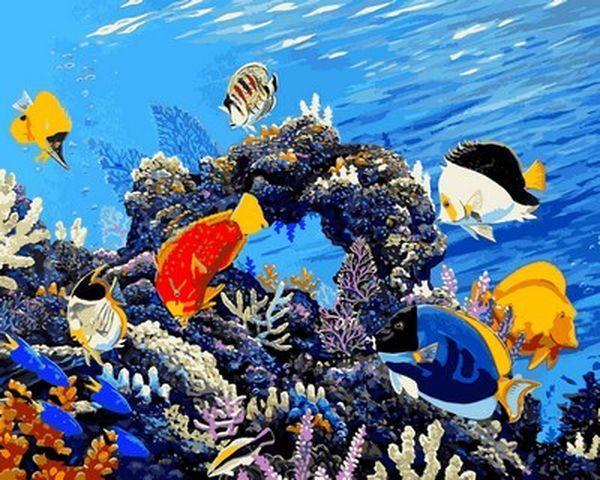 Картини по номерах 40×50 см. Береги наши рифы Художник-эколог Аполло