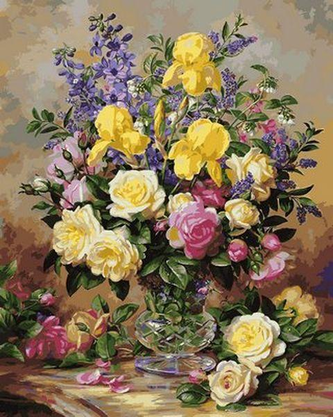 Картины по номерам 40×50 см. Цветочное великолепие июля Художник Альберт Уильямс