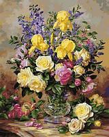 Картины по номерам 40×50 см. Цветочное великолепие июля Художник Альберт Уильямс, фото 1