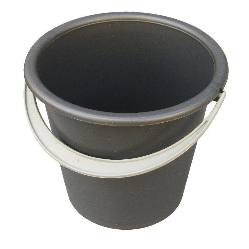 Ведро полиэтиленовое 10 литров чёрное (Юнипласт, Харьков)