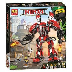 Конструктор Bela 10720 Ninjago Movie Ниндзяго (аналог Lego 70615) «Огненный робот Кая», 980 дет.
