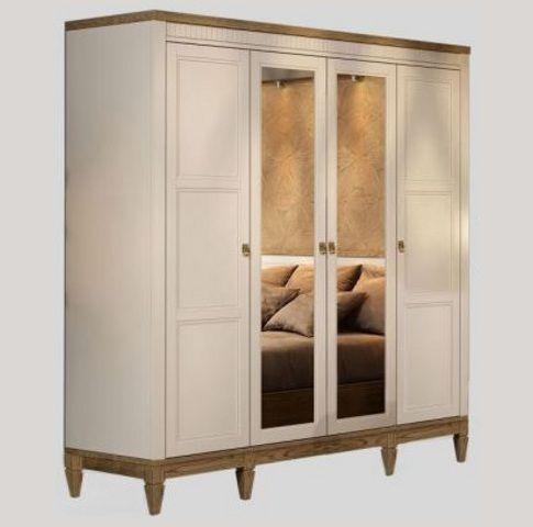 Шкаф 4Д с зеркалом Бавария Мебус