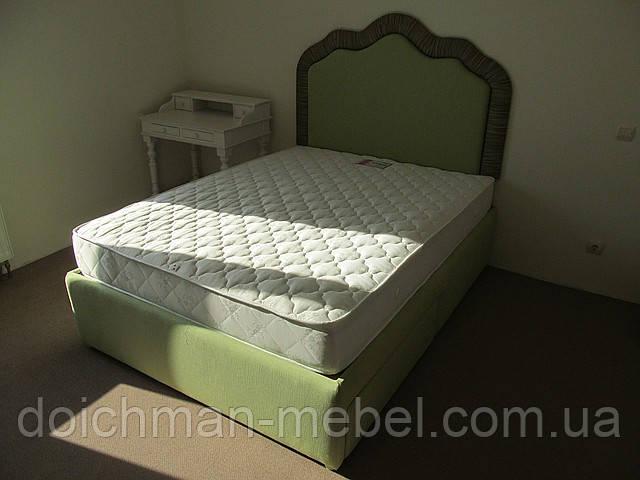 """Двуспальные кровати с мягким изголовьем """"Зеленый луг"""""""