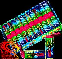 Петарды Мега Пиратка SHOCK Р2000N-Green в упаковке 20 штук