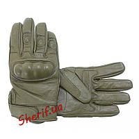 Перчатки военные  тактические кожаные MIL-TEC OLIVE 12504101