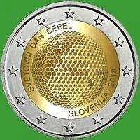 Словения 2 евро 2018 г. Всемирный день пчелы . UNC.