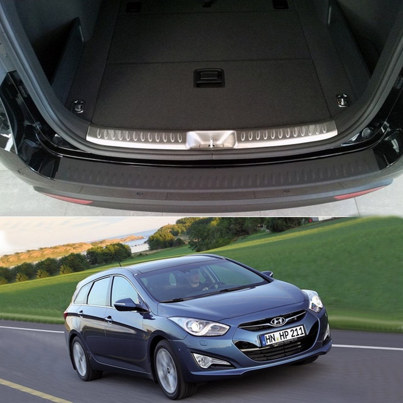 Hyundai i40 CW 2010-2015 пластиковая накладка заднего бампера