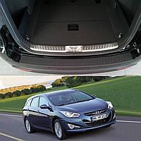 Hyundai i40 CW 2010-2015 пластиковая накладка заднего бампера , фото 1