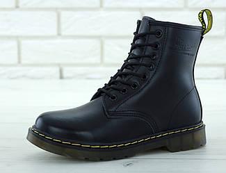 """Женские зимние ботинки Dr.Martens  """"Black"""" (люкс копия)"""