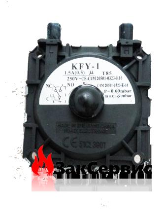 Датчик вентилятора (датчик разряжения воздуха, прессостат, 0,9 мбар) H  Solly 4300200008