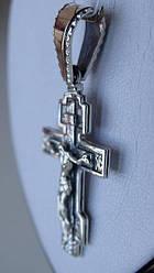 Крест серебряный с золотой пластиной