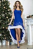 Нарядное шифоновое асиметричное платьев пол