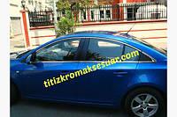 Повна окантовка вікон Круз (Sedan) - Chevrolet Cruze 2009+ рр. нерж, фото 1