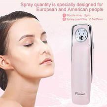 Портативный нано-увлажняющий распылитель для лица туман Ovonni розовый, фото 3