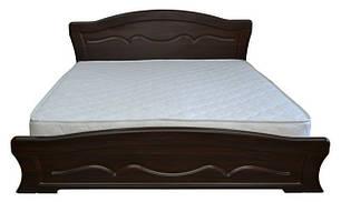 Ліжко односпальне з ДСП/МДФ в спальню Віолетта 140х200 з металевим каркасом та газовим ПМ Неман
