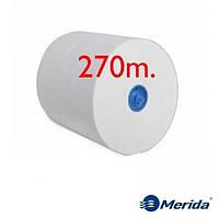 Полотенца бумажные Merida Top Automatic супербелые однослойные в рулонах Maxi 270 м., Польша