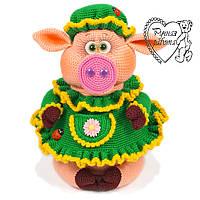 Свинка  - копилка 23 см, хрюшка, год свиньи, новогодний подарок, сувенир,  2019, хряк, поросенок
