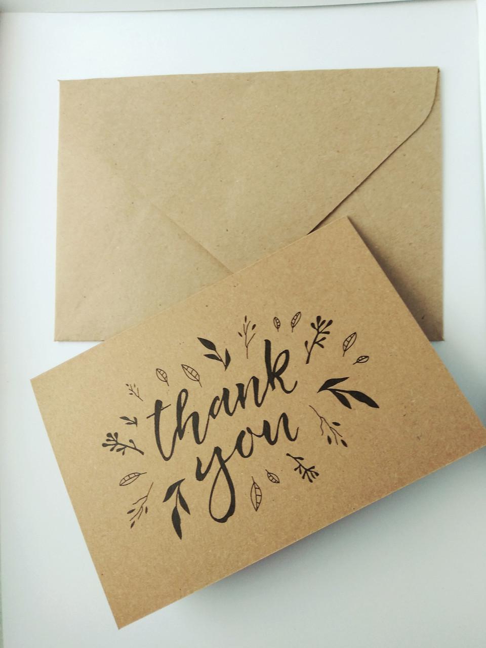 Открытка Спасибо с конвертом 5