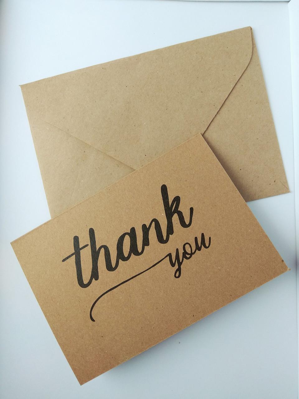 Открытка Спасибо с конвертом 3