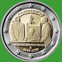 Италия 2 евро 2018 г. 70-летие конституции Итальянской Республики . UNC