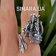 Серебряное кольцо Дракон - Мужское кольцо с Китайским Драконом, фото 10
