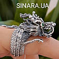 Серебряное кольцо Дракон - Мужское кольцо с Китайским Драконом, фото 8