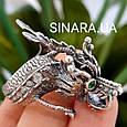 Серебряное кольцо Дракон - Мужское кольцо с Китайским Драконом, фото 7