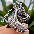 Серебряное кольцо Дракон - Мужское кольцо с Китайским Драконом, фото 6