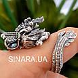 Серебряное кольцо Дракон - Мужское кольцо с Китайским Драконом, фото 5
