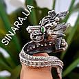 Серебряное кольцо Дракон - Мужское кольцо с Китайским Драконом, фото 4