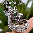 Серебряное кольцо Дракон - Мужское кольцо с Китайским Драконом, фото 3