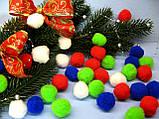 Шарики - помпоны красные D - 3 см, 10 шт - 7 грн, фото 2