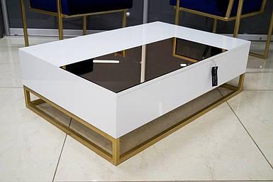 Журнальный стол Golden style на металлической опоре