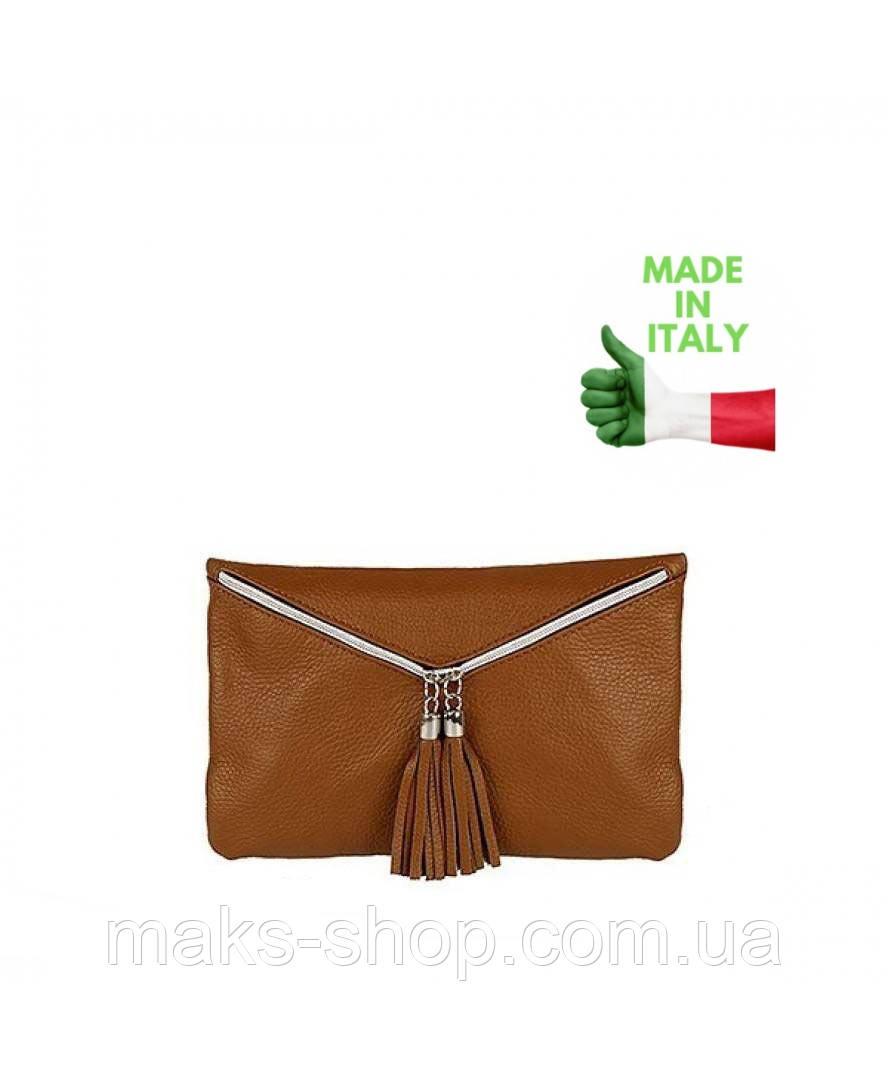 3cd19ad4d6a3 Итальянский женская кожаная сумочка-клатч VERA PELLE - Maks Shop- надежный  и перспективный интернет