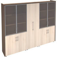 Офисные шкафы на заказ с разным количеством дверей и секций