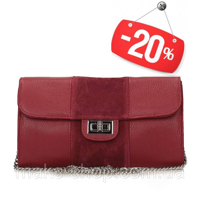 a39fb737f0a8 Итальянская женская кожаная сумка-клатч Toscanio - Maks Shop- надежный и  перспективный интернет магазин
