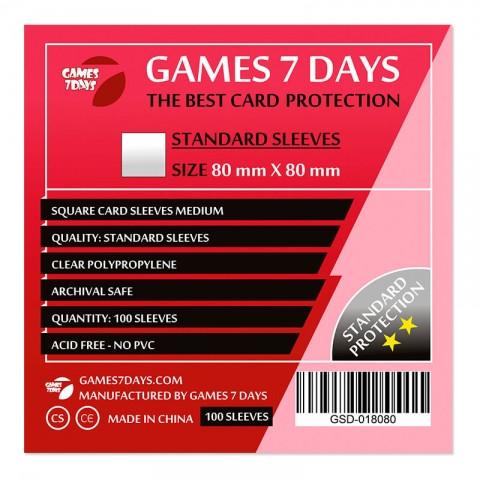 Протекторы для карт Games 7 Days 100 шт. (80x80 мм) Standard Quality