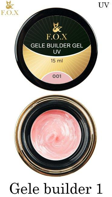 Моделирующий гель-желе F.O.X Gele builder gel Pink 1, 15 ml