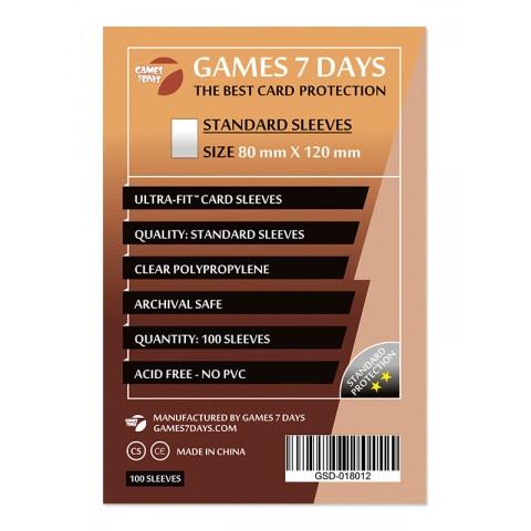 Протекторы для карт Games 7 Days 100 шт. (80x120 мм) Standard Quality